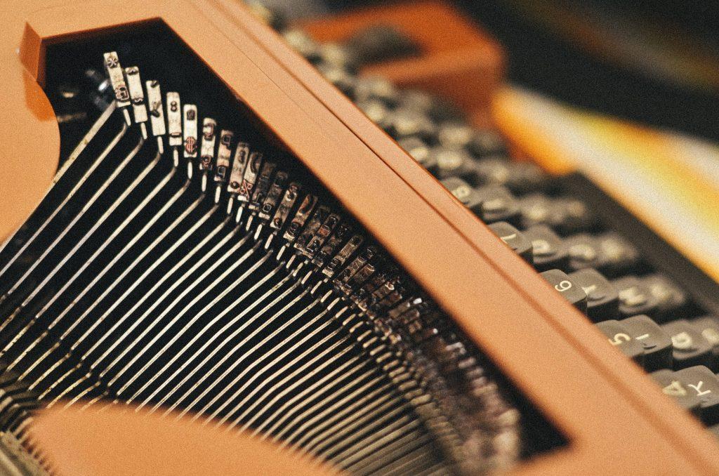 dettaglio di macchina da scrivere