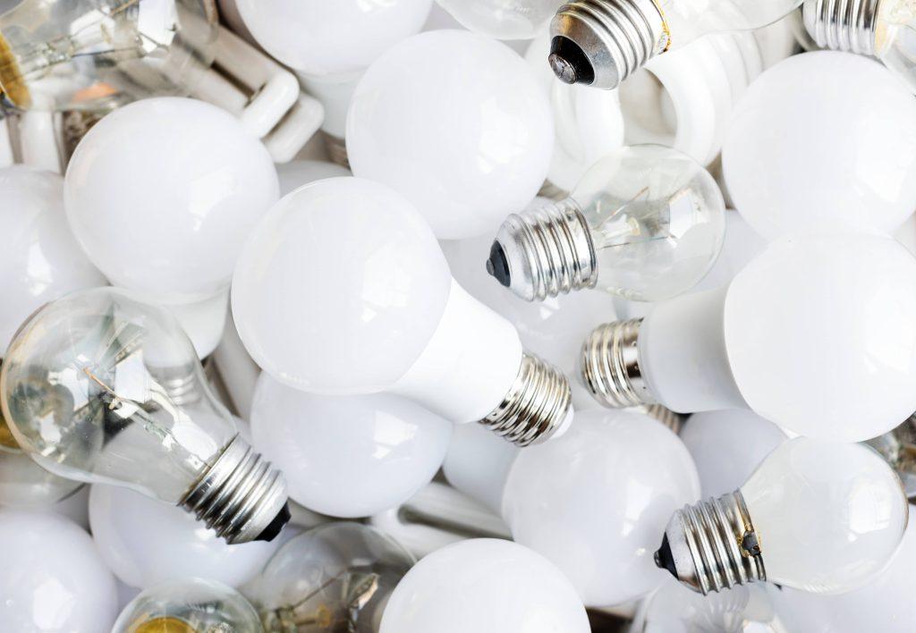lampadine da mettere in ordine